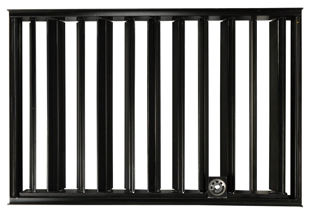 Stamped Steel Louver System: 12 Inch x 8 Inch