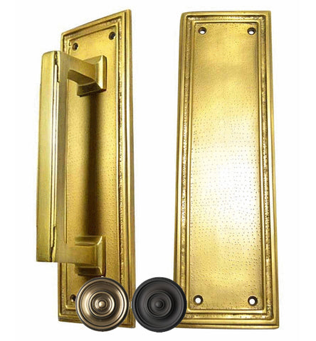 10 Inch Solid Brass Classic Style Push and Pull Plate Set - PUSH & PULL PLATES – Antique Hardware Supply