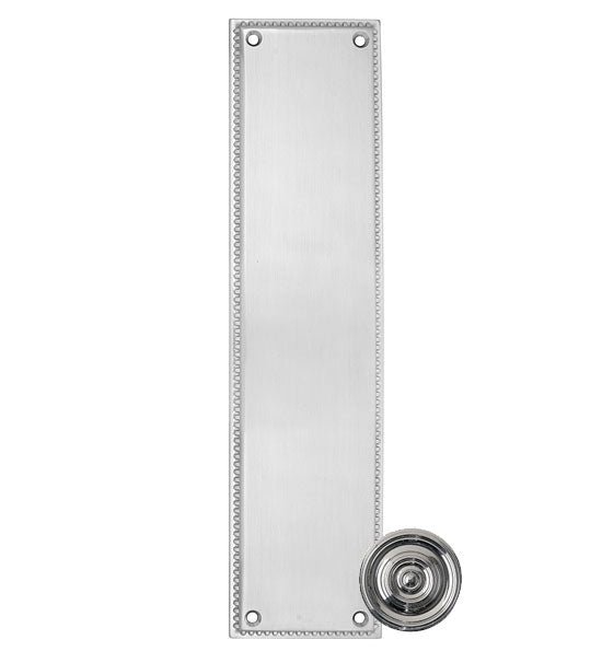 12 Inch Solid Brass Knoxville Push Plate