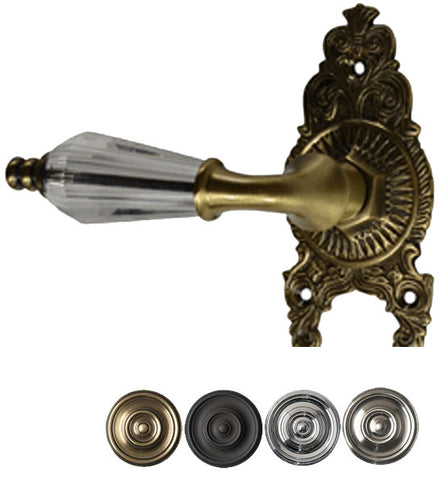 Solid Brass Lever Ornate Victorian Door Knob Set
