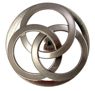 Large Oversized Infinity Celtic Trinity Rings Knob