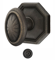 Emtek Solid Brass Lost Wax Parma Door Knob Set With Octagon Rosette