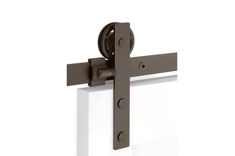 Modern Rectangular Face Mount Barn Door Hanger (Several Finishes Available)