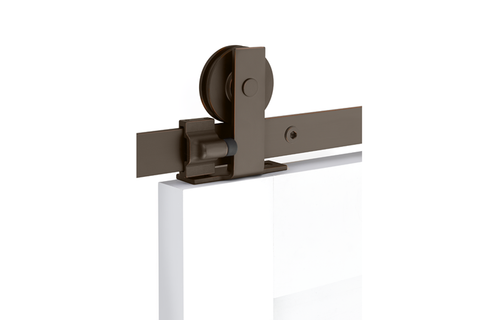 Modern Rectangular Top Mount Barn Door Hanger (Several Finishes Available)