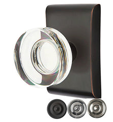 Emtek Modern Disc Crystal Door Knob Set With Neos Rosette