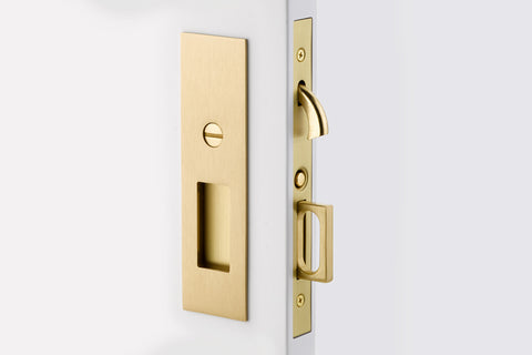 Emtek Narrow Modern Rectangular Brass Mortise Pocket Door (Several Finishes Available)