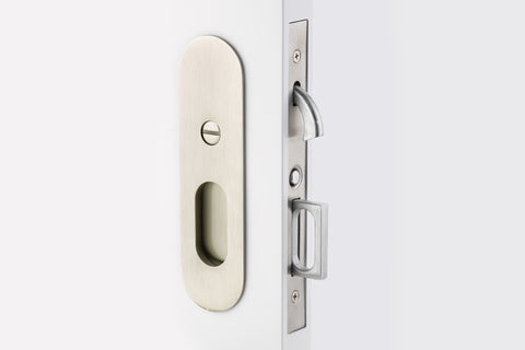 Emtek Narrow Oval Brass Mortise Pocket Door (Several Finishes Available)