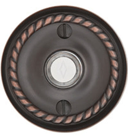 Emtek 2401 Doorbell Button With Rope Rosette