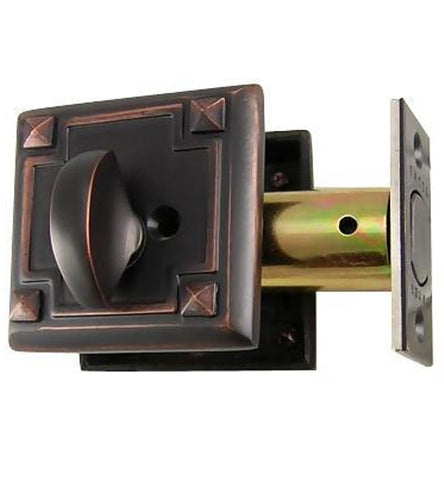 Arts and Crafts Style Deadbolt in Several Finishes
