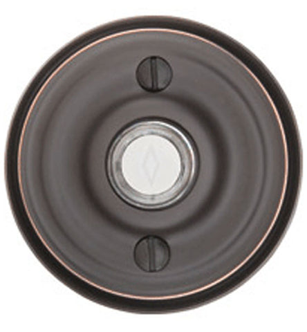 2 3/4 Inch Solid Brass Doorbell Button with Regular Rosette