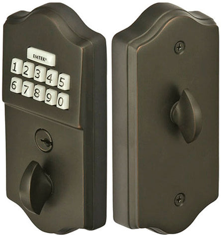 Emtek Single Cylinder Solid Brass Electronic Deadbolt