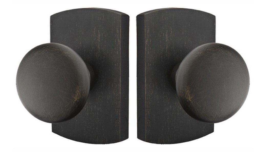 Solid Brass Sandcast Winchester Door Knob Set With Rectangular Rosette
