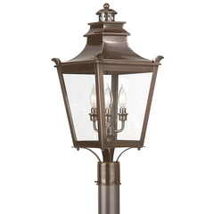 DORCHESTER 3 Light POST LANTERN MEDIUM