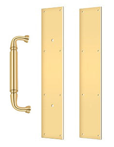 20 Inch Traditional Door Pull and Push Plates