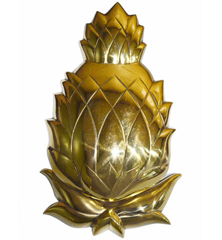 7 1/2 Inch Solid Brass Pineapple Door Knocker in Several Finishes