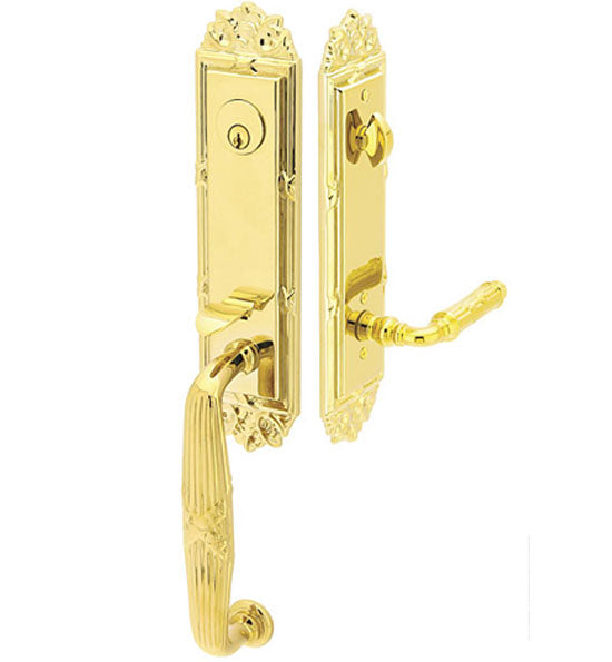 Solid Brass Ribbon and Reed Style Entryway Set