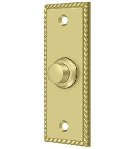 3 1/3 Inch Solid Brass Doorbell Button