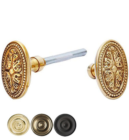 Solid Brass Avalon Oval Spare Door Knob Set