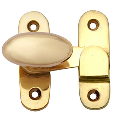 Solid Brass Oval Knob Latch Set