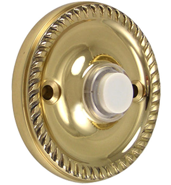 Solid Brass Georgian Roped Doorbell