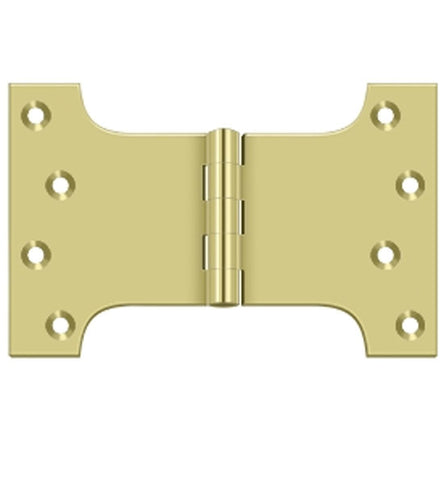 4 Inch x 6 Inch Solid Brass Parliament Hinge