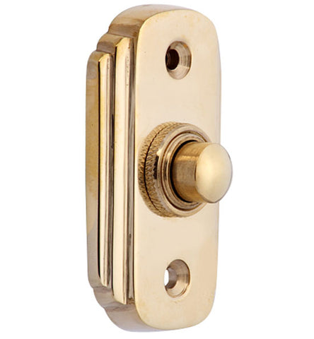 2 1/2 Inch Solid Brass Art Deco Doorbell Button
