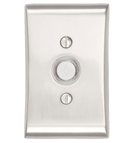 4 Inch Solid Brass Doorbell Button with Neos Rosette