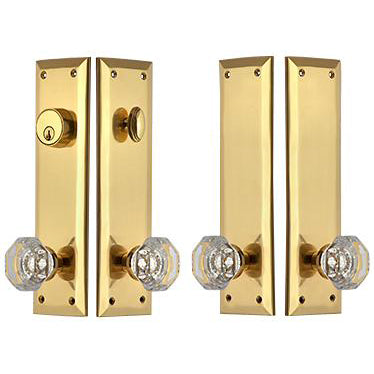 Quaker Style Double-Door Deadbolt Entryway Set (Several Finish Options)
