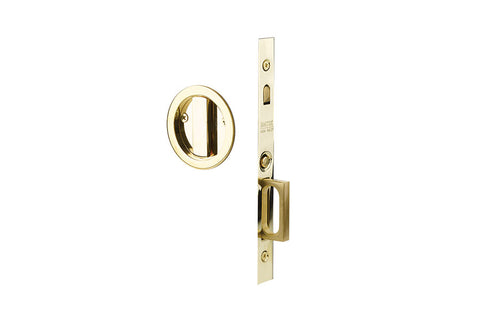 Emtek Round Brass Mortise Pocket Door (Several Finishes Available)