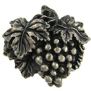 Antique Pewter Grapes, Vines and Leaves Cabinet and Furniture Knob