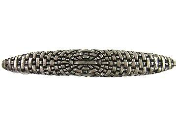5 1/4 Inch (3 3/4 Inch c-c) Solid Pewter Antique Style Braided Basket Weave Pull