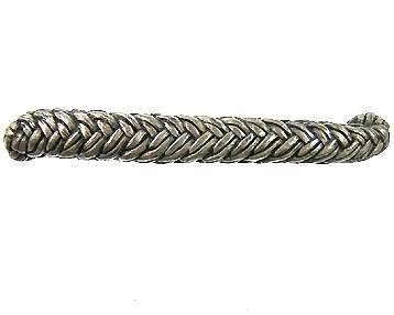 5 1/4 Inch (3 3/4 Inch c-c) Solid Pewter Braided Rope Design