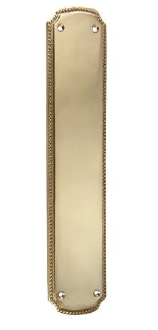11 1/2 Inch Solid Brass Beaded Push & Plate