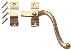 Solid Brass Right Hinge Window Lock Georgian Roped Pattern