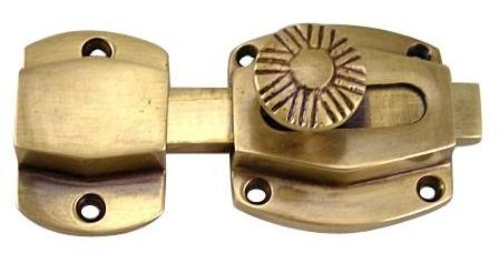 Solid Brass Plain Style Cabinet & Furniture Latch