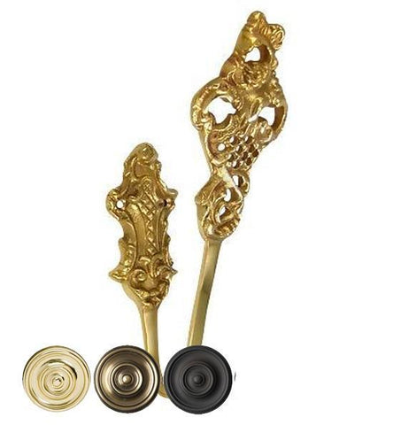 Solid Brass Curtain Tie Back - Baroque Style