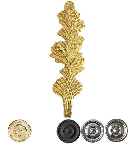 Solid Brass Curtain Tie Back - Oriental Leaves Style