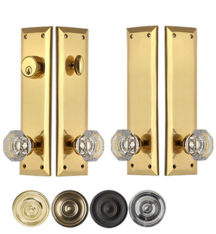 Quaker Style Double-Door Deadbolt Entryway Set Several Finishes