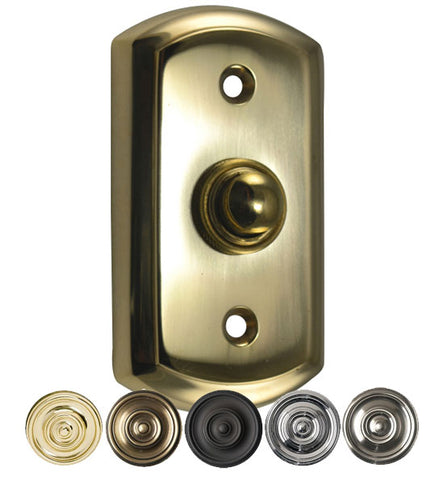 3 1/8 Inch Solid Brass Traditional Doorbell Button