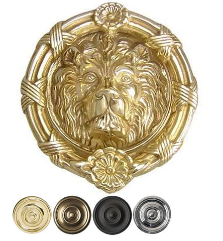 Ribbon & Reed 5 1/4 Inch Solid Brass Lion Door Knocker - Door Knockers – Antique Hardware Supply