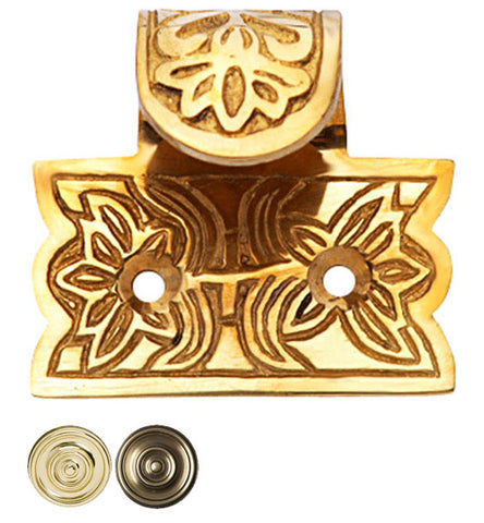 1 3/4 Inch Solid Brass Potted Flower Sash Lift