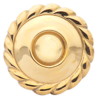 1 1/2 Inch Solid Brass Georgian Roped Knob