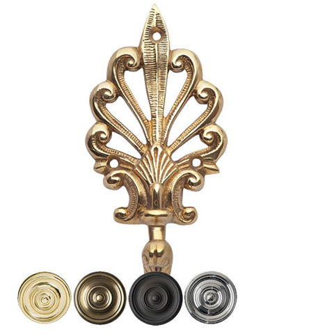 Art Deco Fleur De Lis Solid Brass Robe Hook