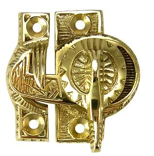 Eastlake Pattern Solid Brass Window Lock
