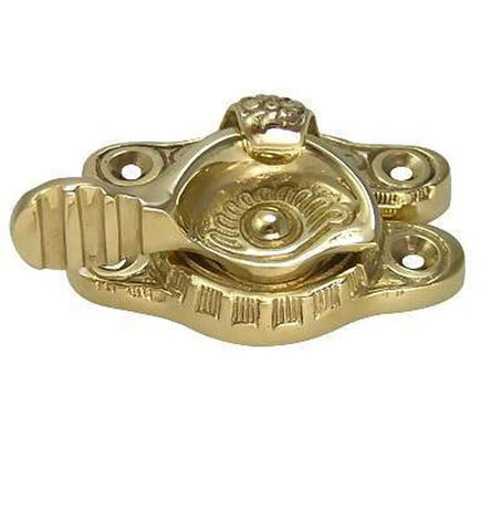 Floral Victorian Solid Brass Sash Window Lock