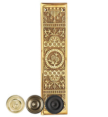 11 1/4 Inch Eastlake Solid Brass Push Plate