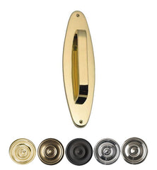 11 Inch Traditional Oval Door Pull & Plate in Several Finishes
