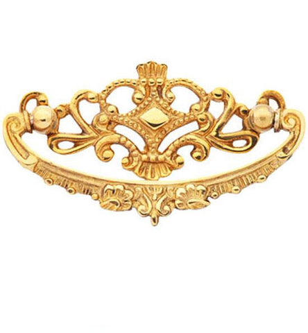 4 1/8 Inch Solid Brass Ornate Victorian Pull
