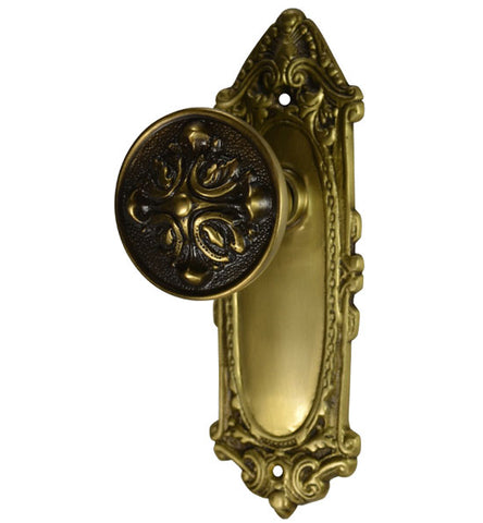 Largo Design Romanesque Style Door Knob Set