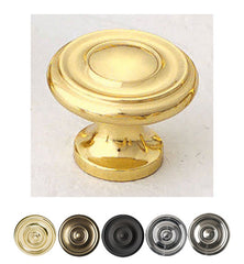 Large Traditional Colonial Style Round Cabinet & Furniture Knob
